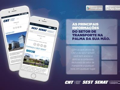 CNT e Sest Senat lançam aplicativos para smartphones e tablets